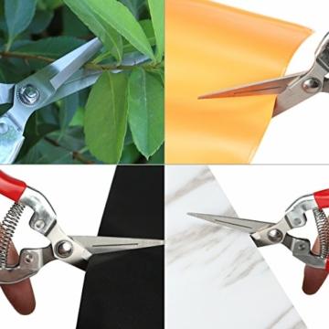 Aiskki Gartenschere 2 Stück, Astschere Gartenarbeit-Pflanzen-Blumenschere, Rosenschere Set Rebschere Floristenschere Traubenschere Handwerkzeug - 8