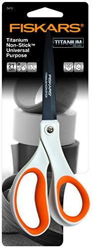 fiskars-antihaft-universalschere-laenge-21-cm-titan-beschichtung-rostfreie-stahl-klinge-kunststoff-griffe-weiss-orange-1004721-2