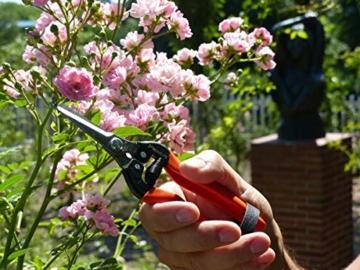 Garten Primus Gartenschere, Rosenschere, Rebschere, Floristenschere, Wunderschere, orange/silber, 18,1 x 4,9 x 1,8 cm, 01040 - 3