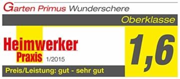 Garten Primus Gartenschere, Rosenschere, Rebschere, Floristenschere, Wunderschere, orange/silber, 18,1 x 4,9 x 1,8 cm, 01040 - 7