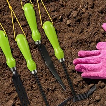 relaxdays-gartenwerkzeug-set-4-teilig-blumenkelle-kleinrechen-doppelhacke-blumengabel-gartengeraete-set-eisen-gruen-3