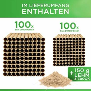gardemics-insektenhotel-bausatz-oekologische-nisthuelsen-fuer-wildbienen-inkl-gratis-lehm-e-book-200-nisthilfen-mit-o-6-8mm-made-in-germany-super-papproehrchen-fuer-insektenhotel-2