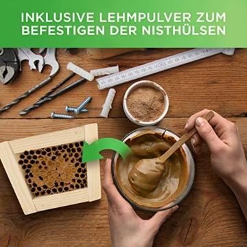 gardemics-insektenhotel-bausatz-oekologische-nisthuelsen-fuer-wildbienen-inkl-gratis-lehm-e-book-200-nisthilfen-mit-o-6-8mm-made-in-germany-super-papproehrchen-fuer-insektenhotel-4